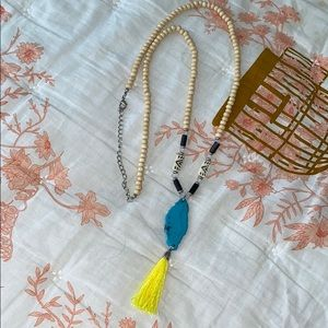 COPY - ☀️Beaded Tassel Necklace. Turquoise and Ne…